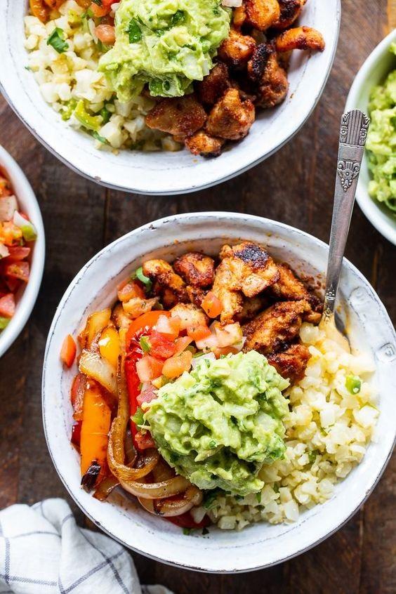 Paleo Chicken Burrito Bowls