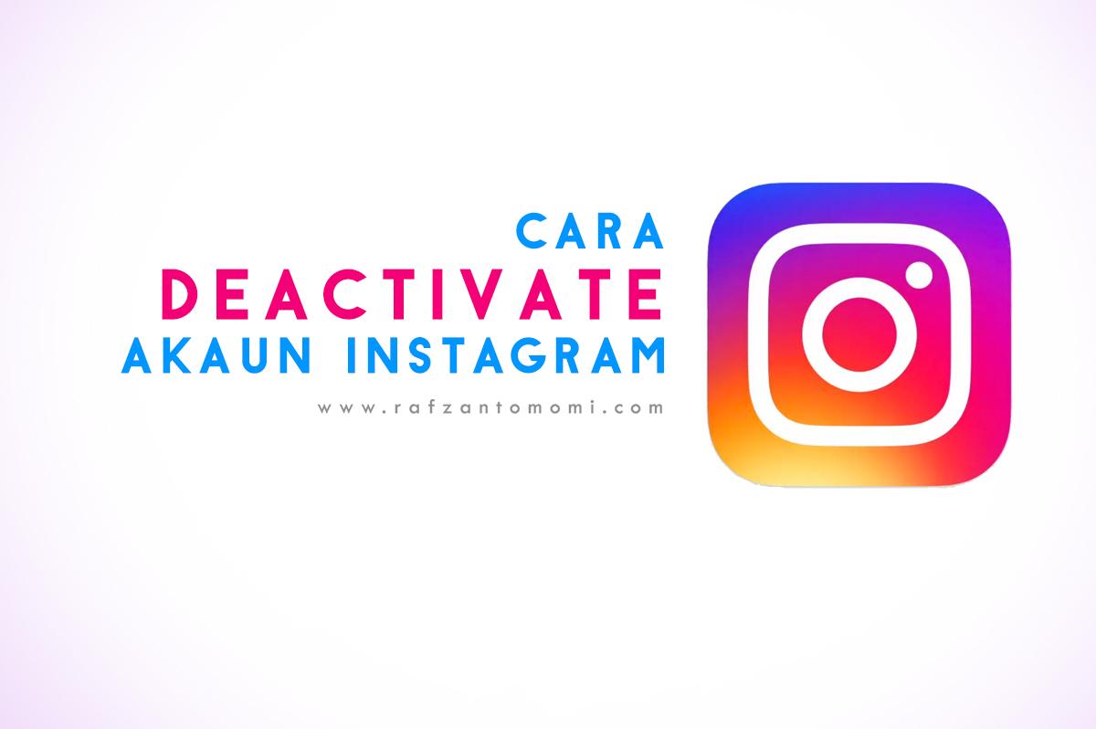 Cara Deactivate Akaun Instagram