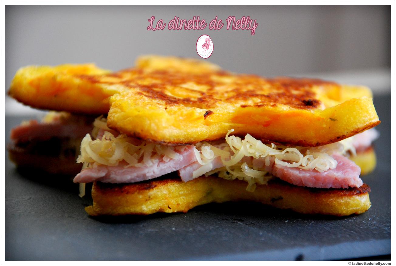 Croque Monsieur A La Poele la dinette de nelly: pancakes à la carotte en croque monsieur