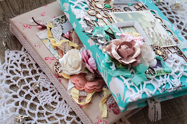 @marinasyskova #scrap #scrapbooking #notebook #turquoise