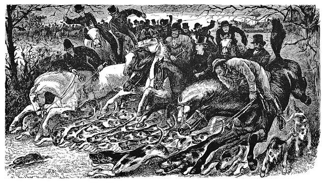 George Du Maurier 1898, fox hunting