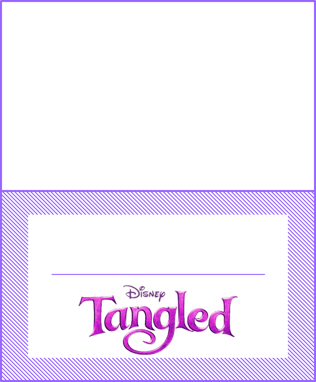 Tangled Party  Toppers or Free Printable Candy Bar Labels.