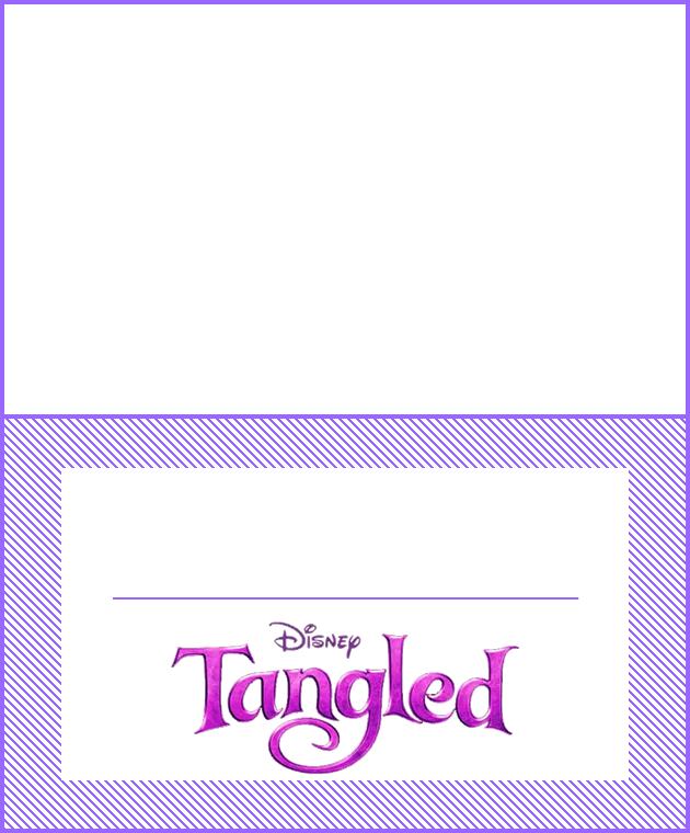 Para hacer invitaciones, tarjetas, marcos de fotos o etiquetas, para imprimir gratis de Enredados.