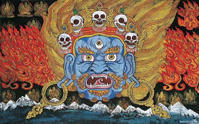 Божество Яма Китай