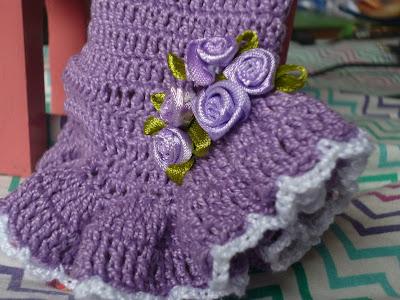 Barbie com vestido de crochet 5