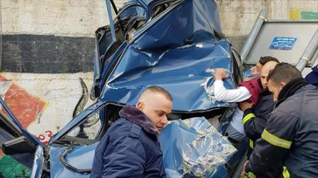 Camión de colono israelí embiste a palestinos y deja 50 heridos