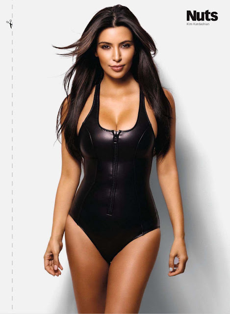 Kim Kardashian Nuts UK Magazine September 2012