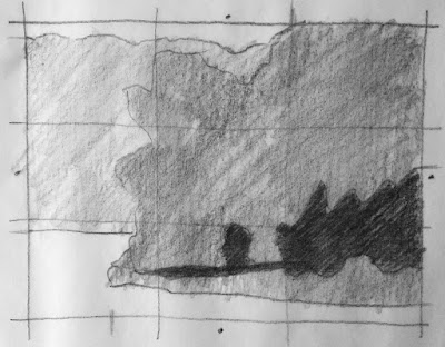 thumbnail sketch for Composition study