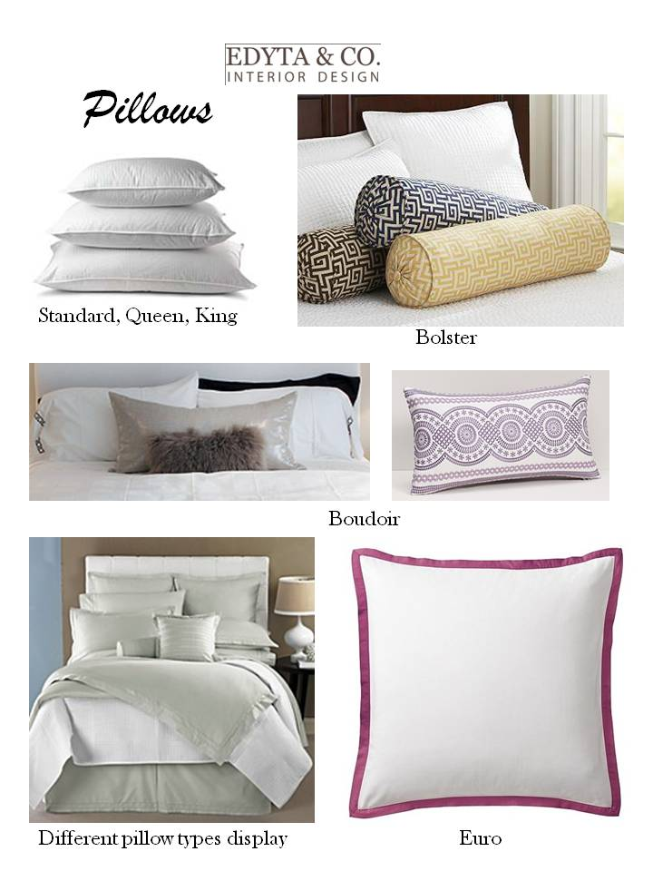 EDYTA & CO.INETERIOR DESIGN: Pillow Talk