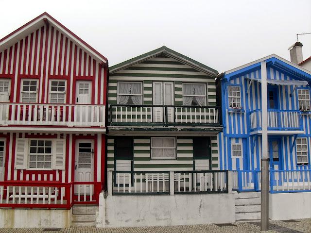 Costa Nova y sus casas de colores