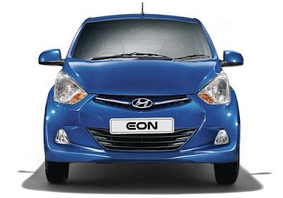 Hyundai EON Blue front view