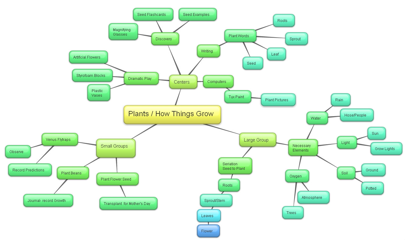 Flower Concept Map.Teaching Technology Plants Concept Map