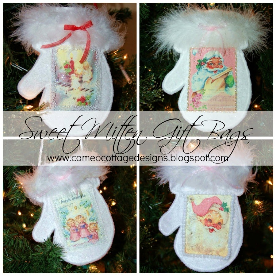 Sweet Christmas Mitten Gift Bags