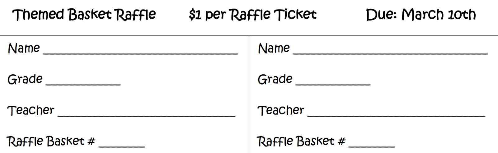 fundraiser raffle tickets