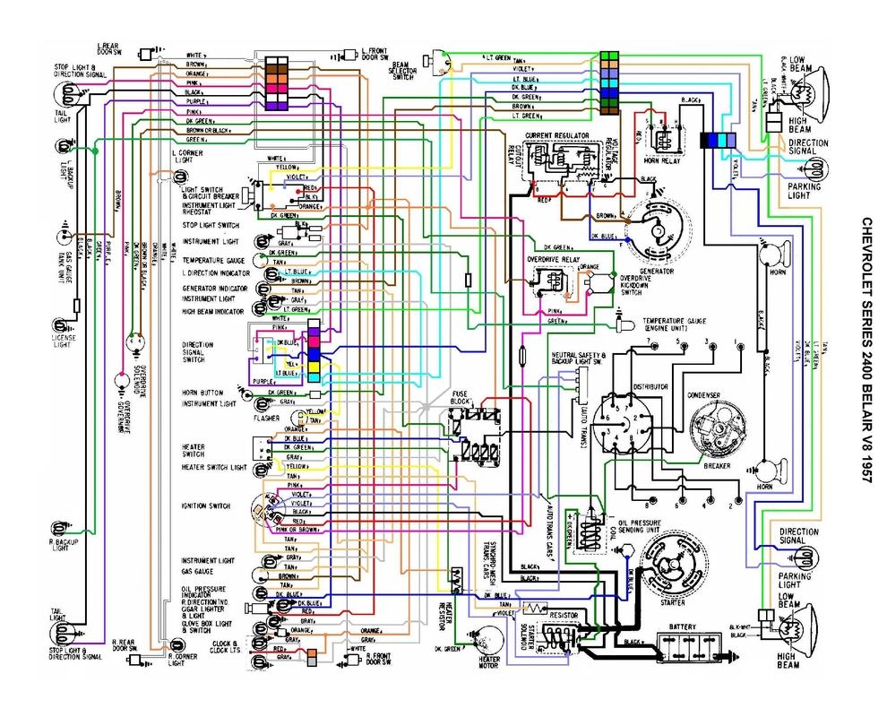 Chevy Wiring Color 1957 Wire Diagram 2003 Malibu Clic Engine Auto Colors Trailer Code