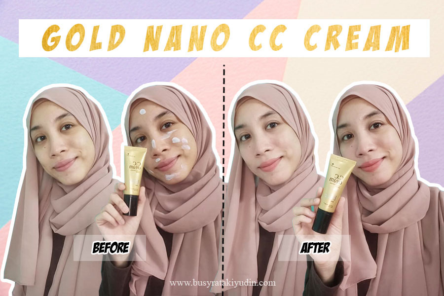 hansaegee nature gold nano cc cream, waterproof cream, mineral water, nano gold, krim muka, beauty review,