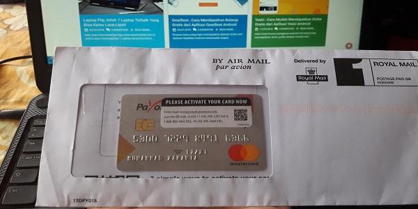 Cara Mengaktifkan Kartu Kredit Mastercard Payoneer Terbaru 2019