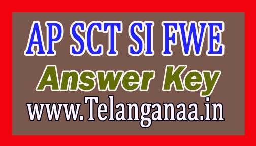 AP SCT SI FWE Answer Key / Cut Off (Expected) 2016