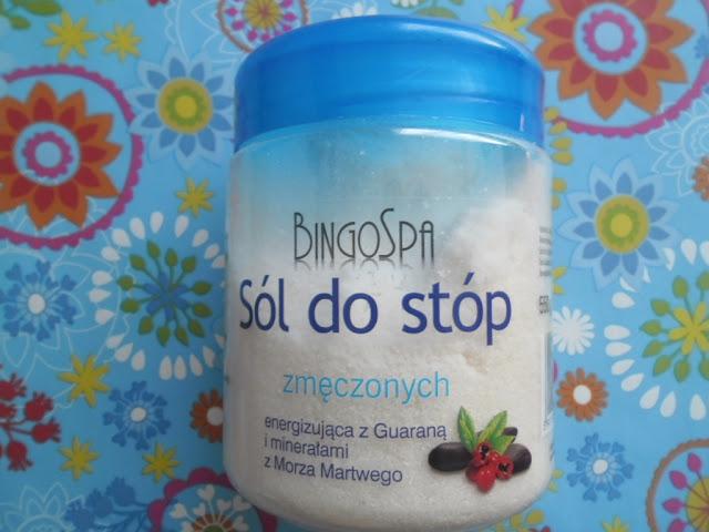BingoSpa energizująca sól do pielęgnacji stóp zmęczonych z Guaraną i minerałami