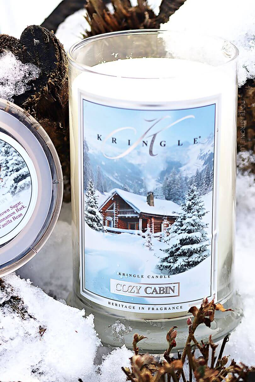 duża świeca kringle candle cozy cabin