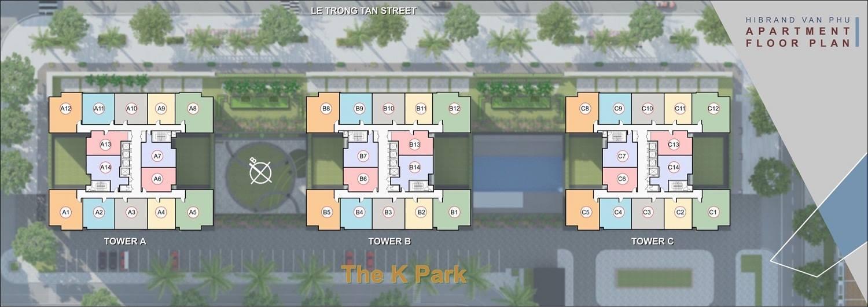 Mặt bằng chính thức chung cư The K Park Văn Phú