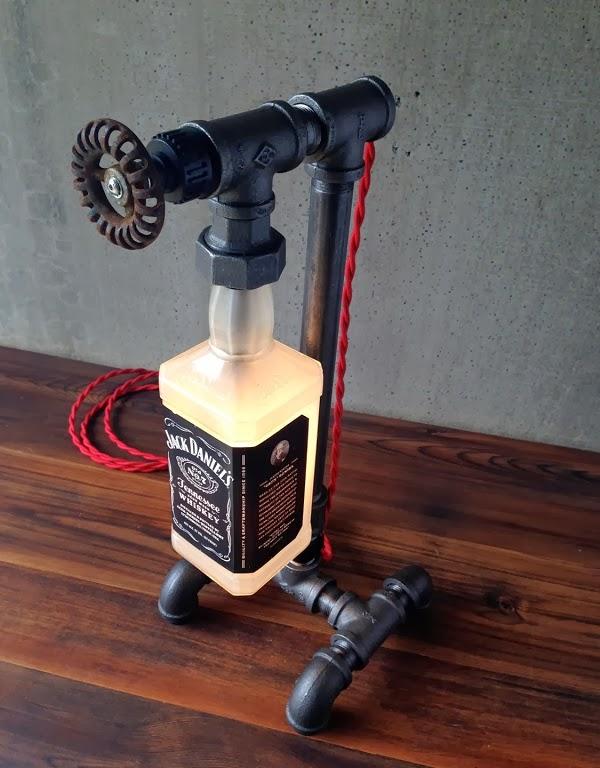 jack daniels bottle lamp men 39 s gear. Black Bedroom Furniture Sets. Home Design Ideas