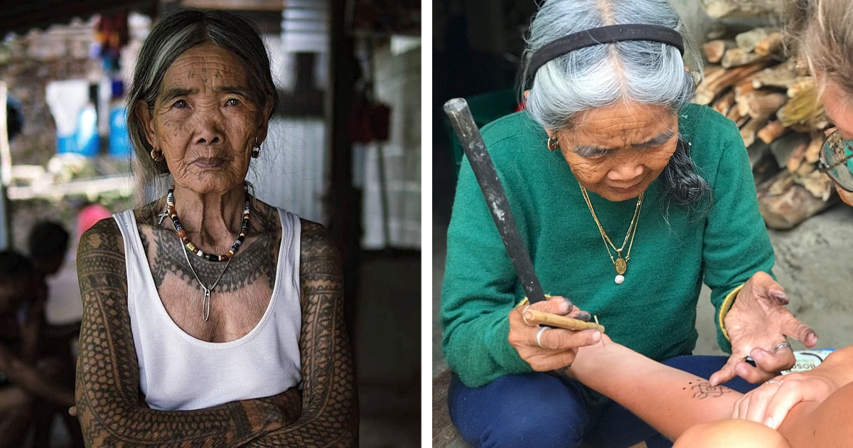 102-Year-Old Woman Is Keeping An Ancient Philippine Tattoo Tradition Alive In The Philippines