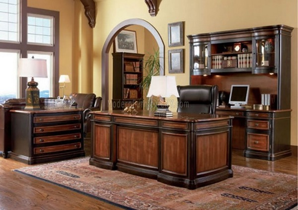 solid wood executive office furniture