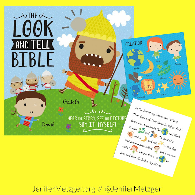 Review and giveaway of the Look and Tell Bible. #giveaway #tommymommy #parenting #motherhood #children