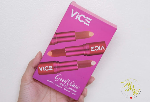 a photo of Vice Ganda Good Vibes Matte Lipsticks in Eklavu, Bet and Bet and Severe Review.
