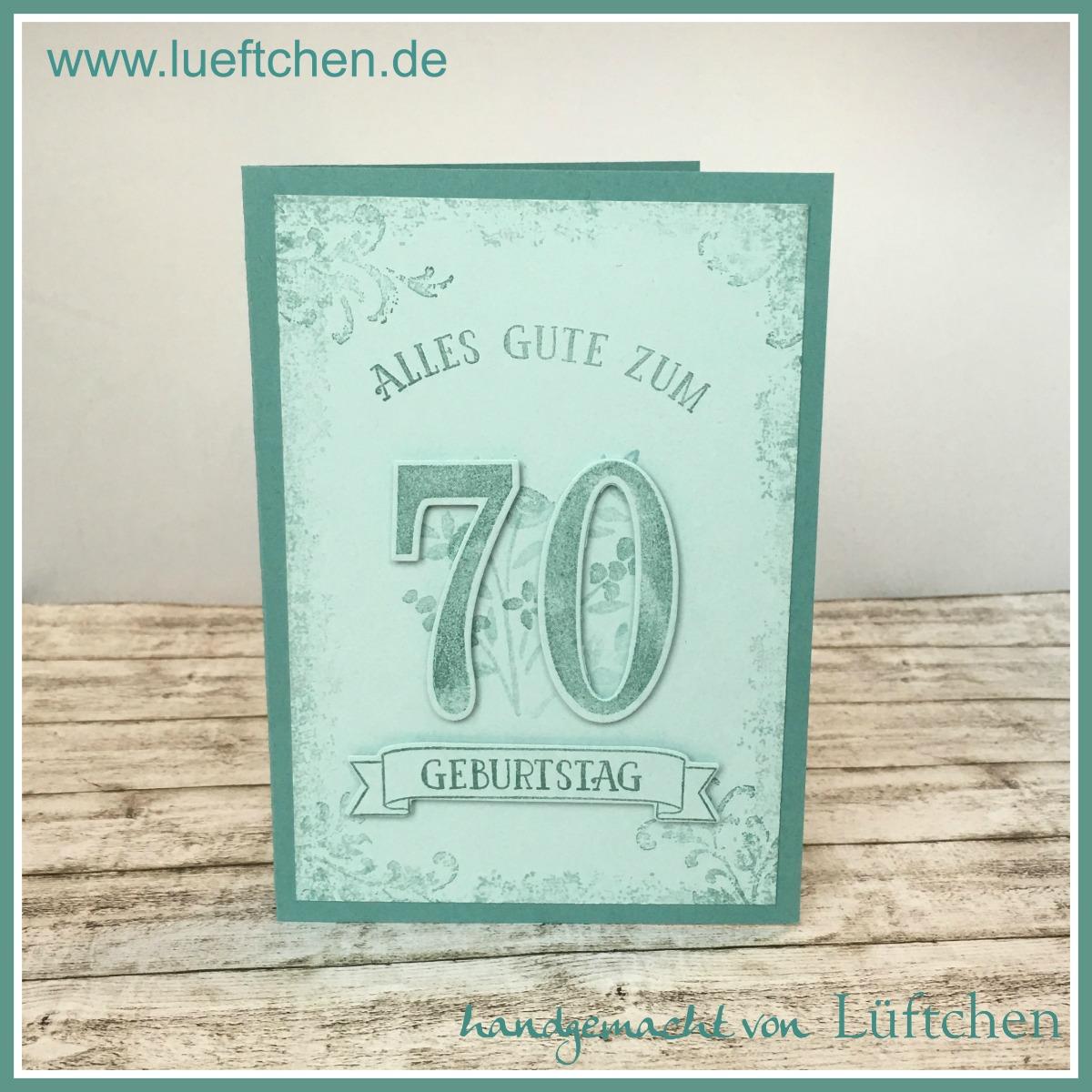 Lüftchen Basteln Mit Papier Und Stempeln 70 Geburtstag