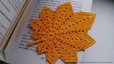 Folhas de crochê para aplicação com gráfico outro modelo