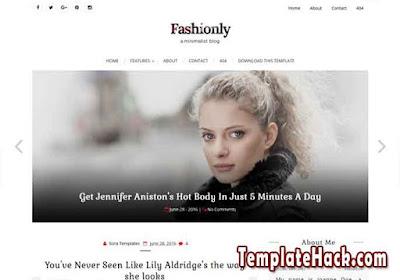 fashionly blogger template premium
