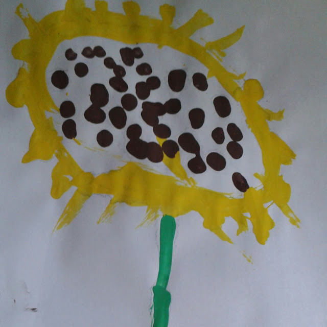 Sunflower craft, still life painting
