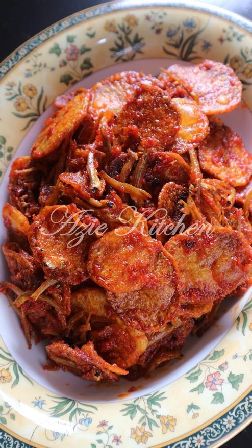 Sambal Kentang Ikan Bilis Rangup Azie Kitchen