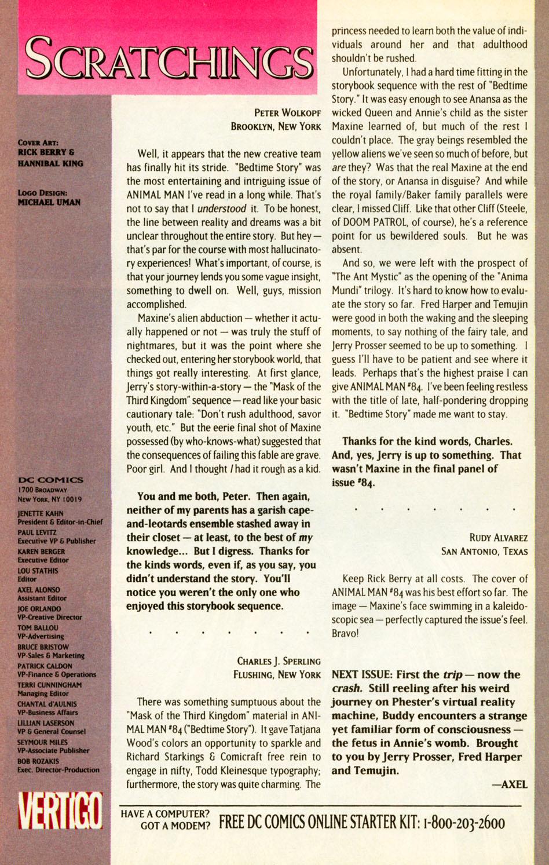Read online Animal Man (1988) comic -  Issue #87 - 24