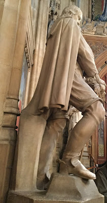 Side view of Lord Falkland showing heel damaged by suffragettes