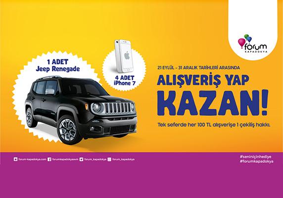 Forum Kapadokya çekiliş,Jeep çekilişi, iphone 7 çekiliş, iPhone 7 kampanyaları,