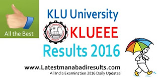 KLUEEE Results 2016,KLUEEE 2016 Ranks,kluniversity,KLUEEE 2016 Results Name wise