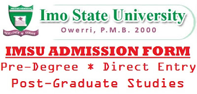 IMSU Pre-Degree Form 2017/2018 is Out – Apply Here for Admission