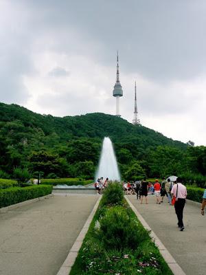 Namsan Park at Seoul South Korea