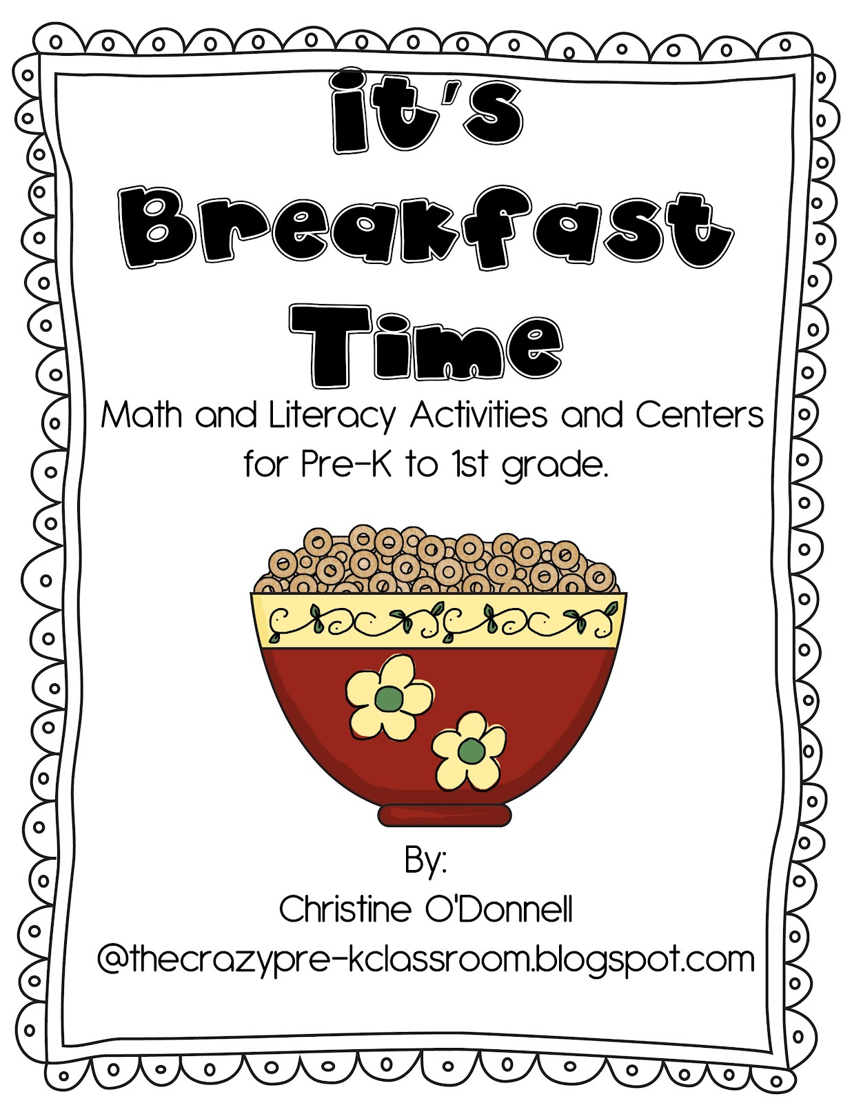 The Crazy Pre K Classroom New It S Breakfast Time Math