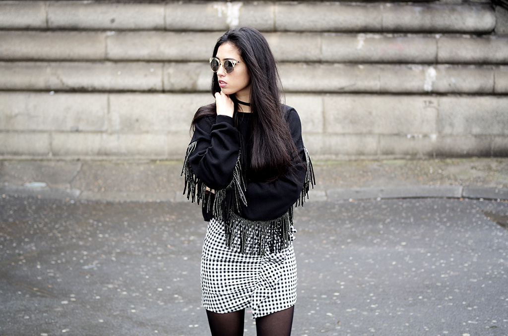 Elizabeth l Gingham Fringes outfit l vichy franges zara vans old skool l THEDEETSONE l http://thedeetsone.blogspot.fr