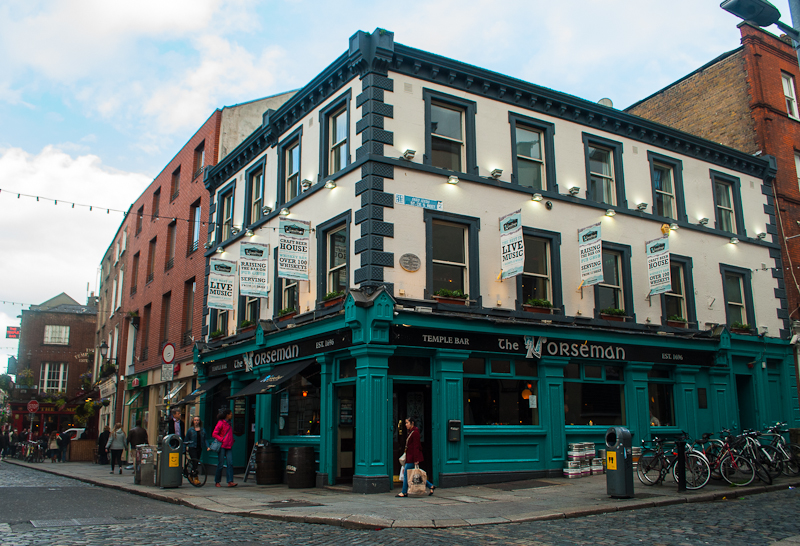 The Horseman cafe along temple bar in Dublin Ireland