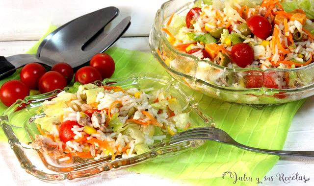 Ensalada de arroz. Julia y sus recetas