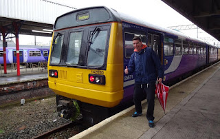 Pacer Railbus to Southport spotted at Stockport railway station