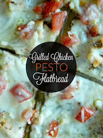 grilled chicken pesto flatbread (sweetandsavoryfood.com)
