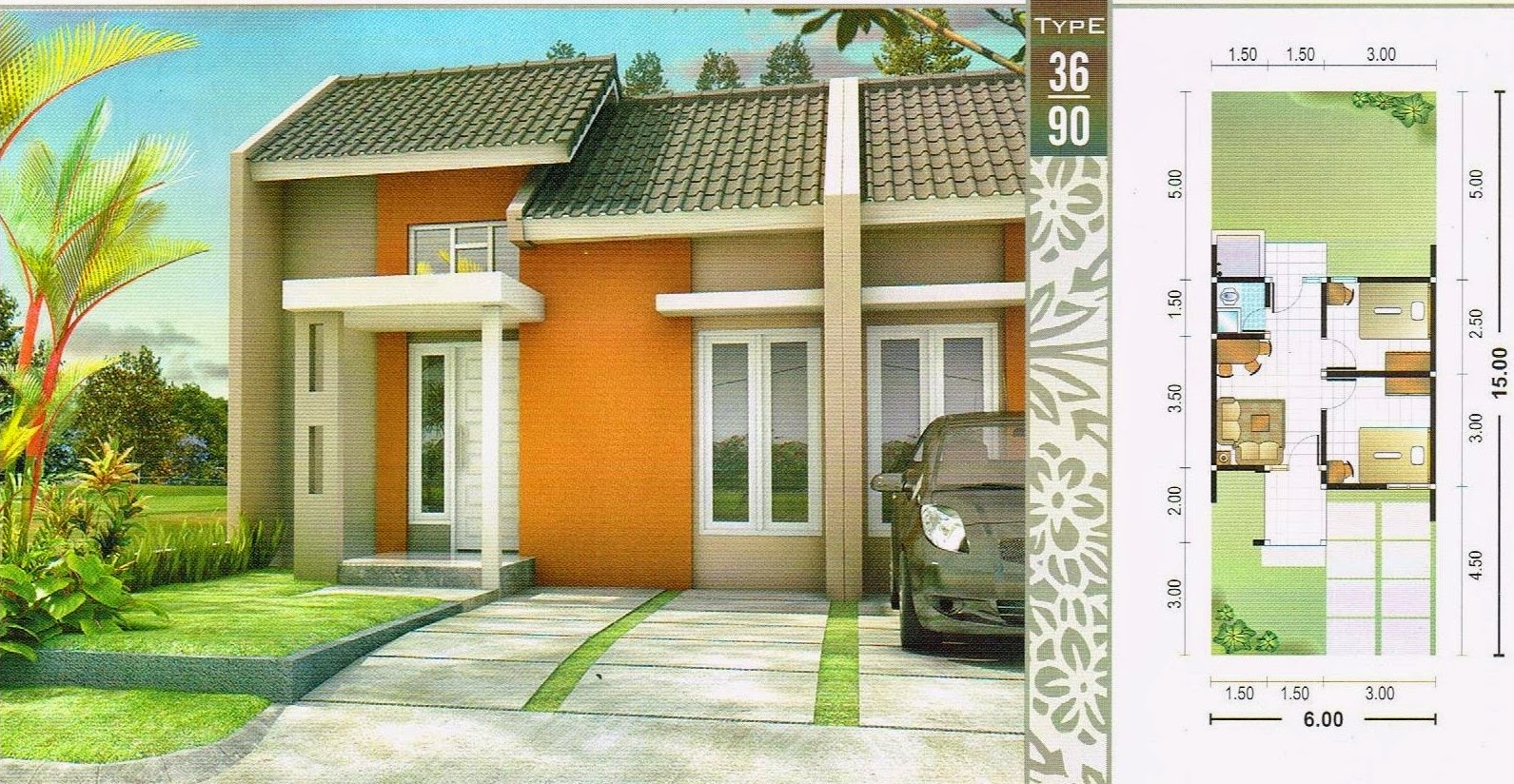 Desain Rumah Hook Type 36 Rumah Desain Minimalis