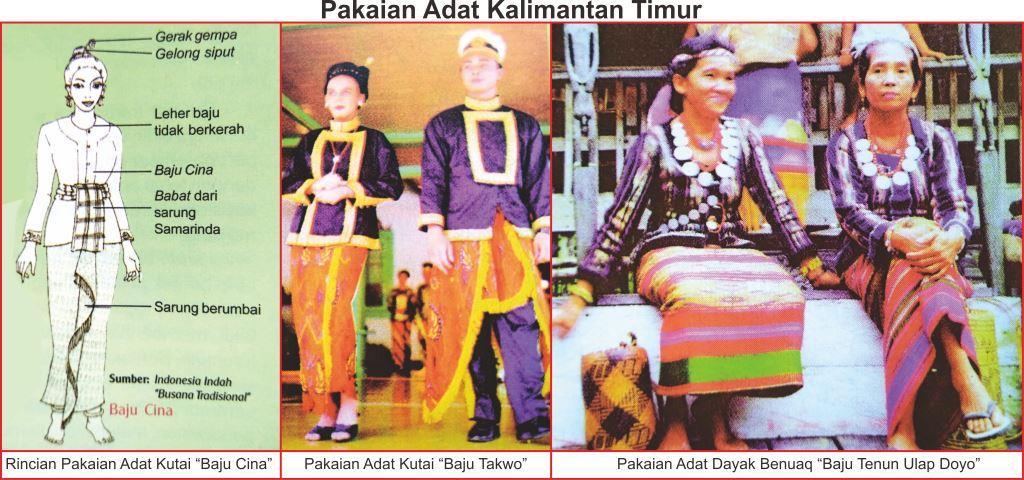 pakaian adat kalimantan timur lengkap gambar dan penjelasannya rh senibudayaku com