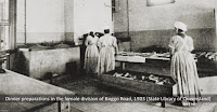 Prisoners at work in the kitchen, Female Division, Boggo Road, 1903.